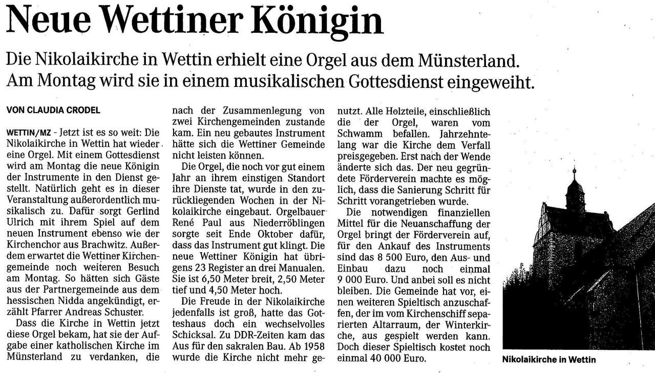 Am 06.01.2014  wurde die Steinmeyer Orgel Eingeweiht