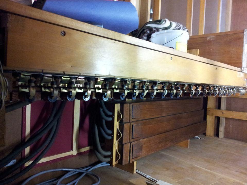 Aufbau der Steinmeyer Orgel
