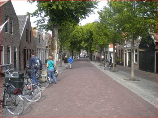Dorfstraße vom einzigen Ort auf Vlieland