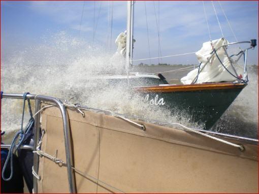 """Bei Südwind ist meisten schönes Wetter und diese Dusche läßt sich besser aushalten als """"Wind gegen Strom"""" bei Westwind."""
