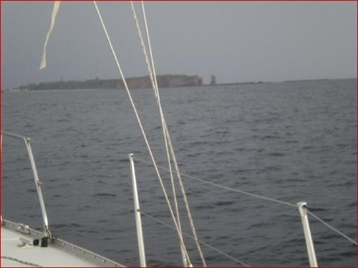 Helgoland von Norden aus zu sehen