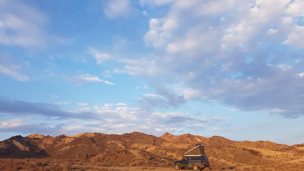 Kamperen in de woestijn