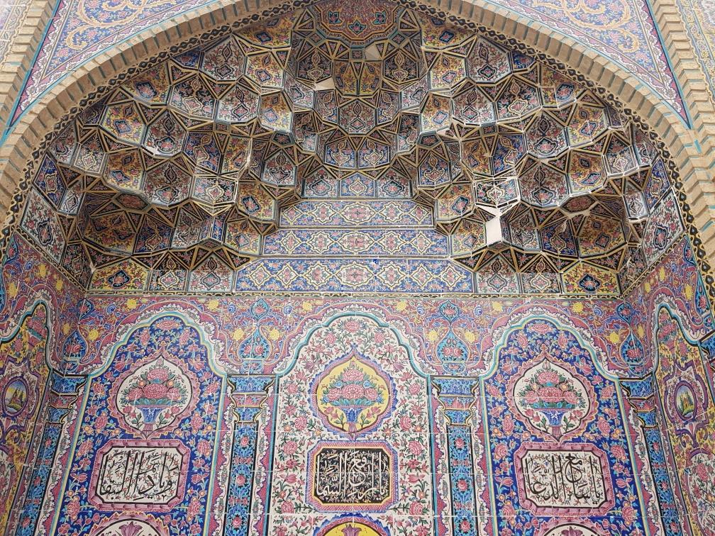 De roze moskee in Shiraz
