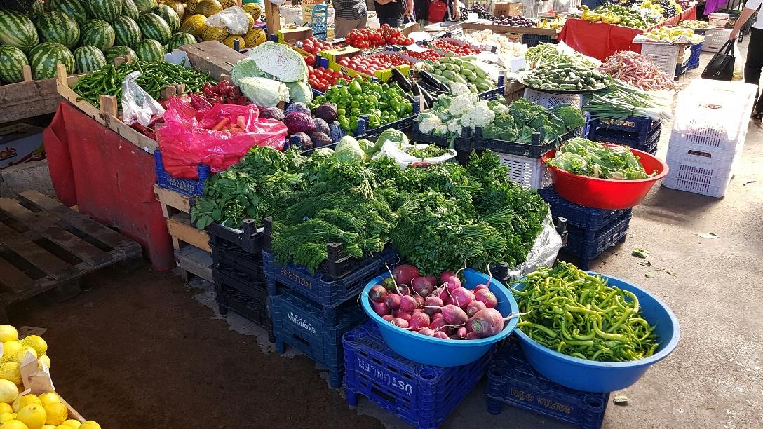 De markt in Sinop (zwarte zee)