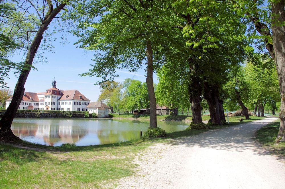 Herrlicher Blick am Krebsweiher in Triesdorf
