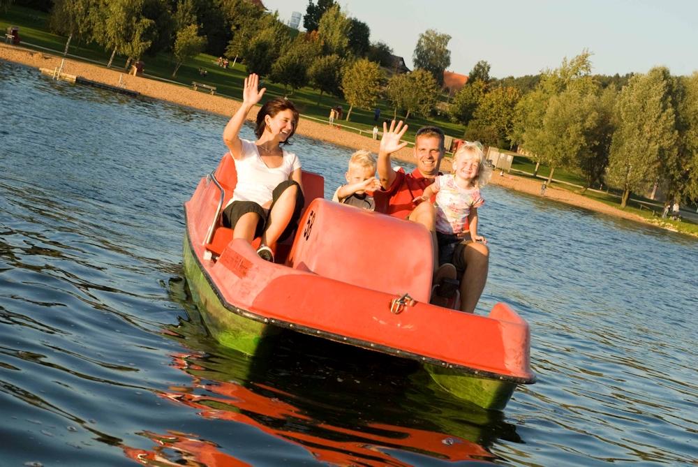 Tretbootfahren am Brombachsee