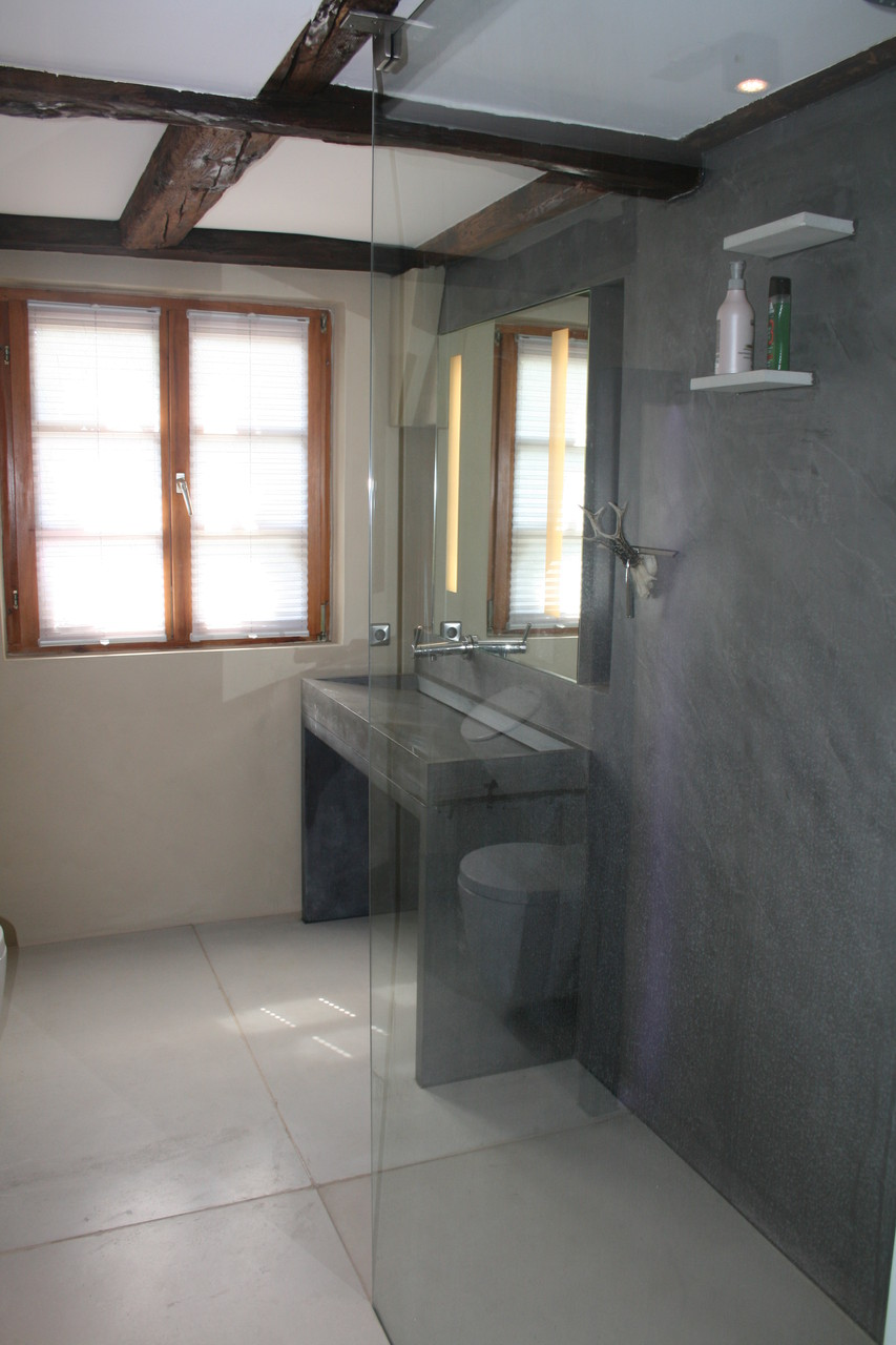 Betonbad, Beton Bodenplatten, Beton Cire Wandgestaltung, Beton Waschtisch,