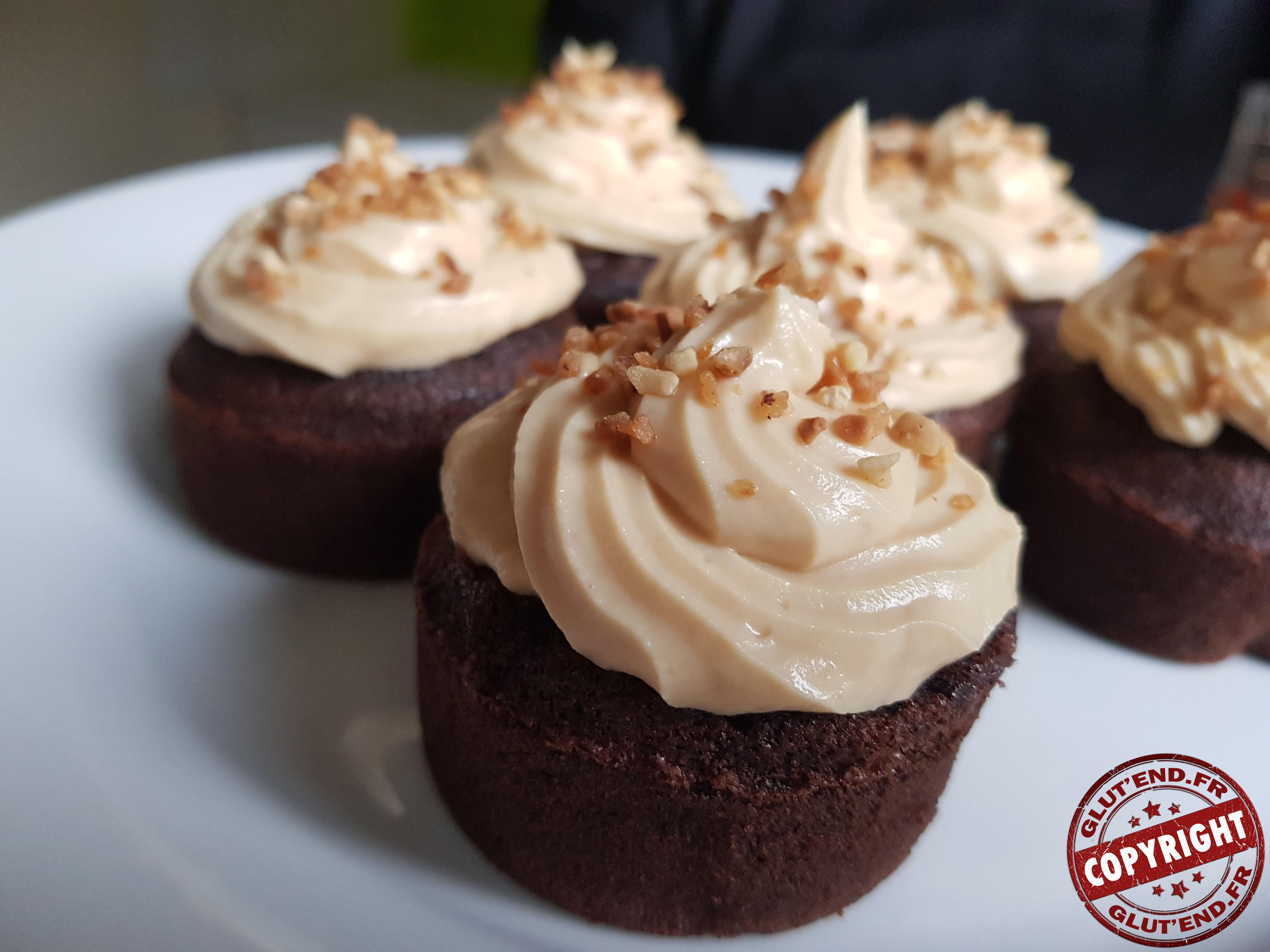 cupcake chocolat caramel sans gluten sans lactose