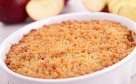 recette crumble aux pommes sans GLO