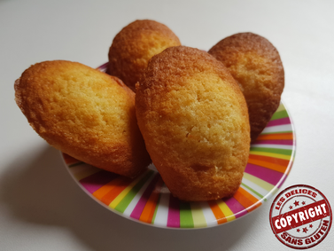 recette madeleine sans gluten sans lactose