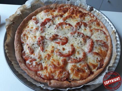recette tarte tomates mozzarella sans gluten