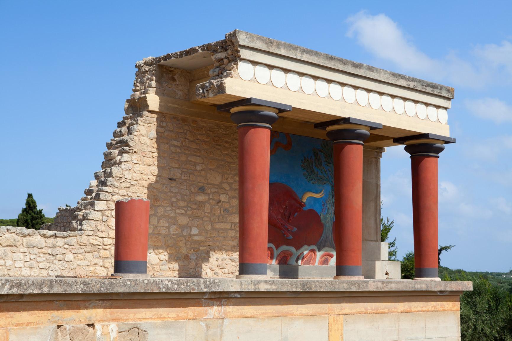 Palais de Knossos : Entrée