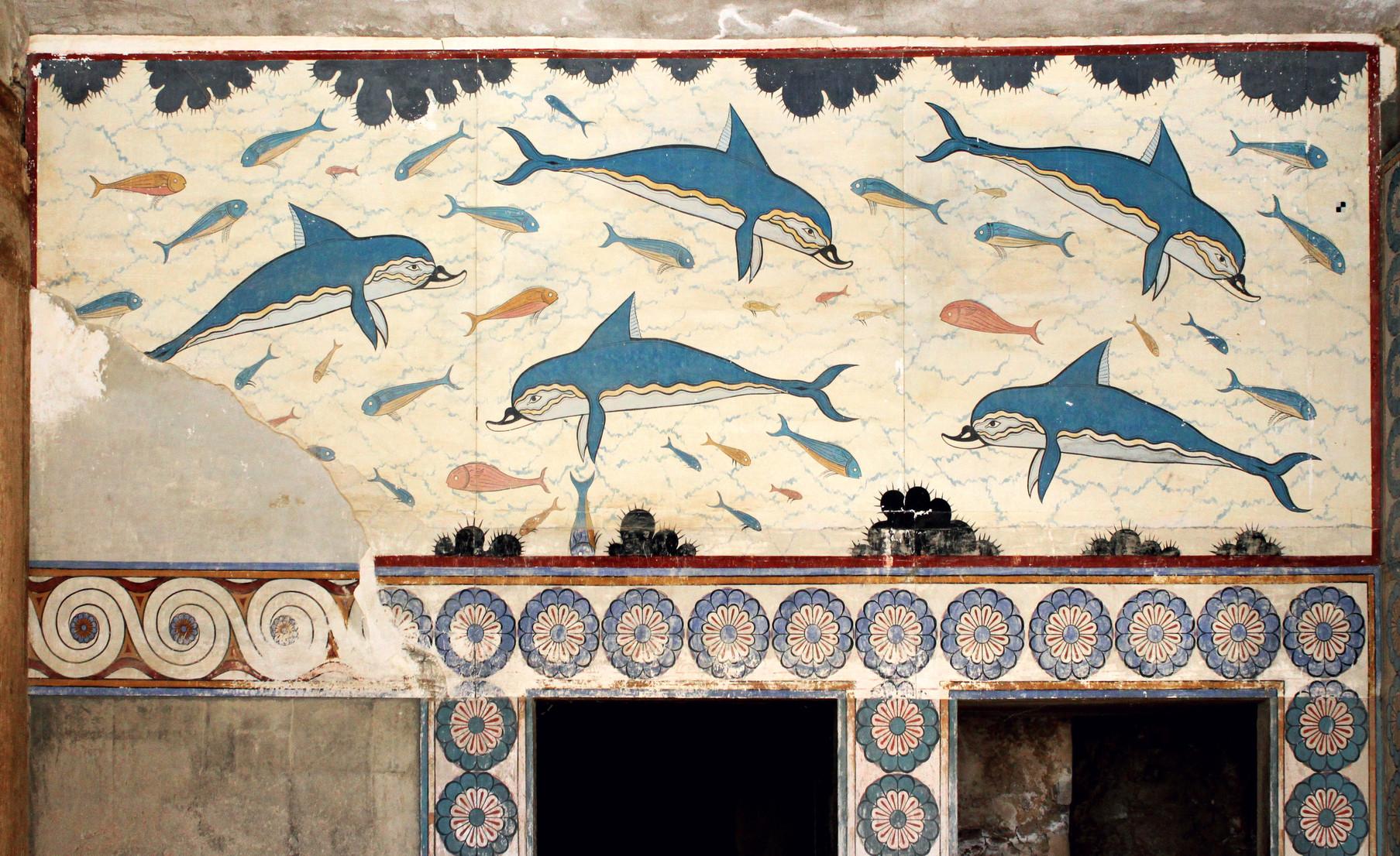 Fresque murale : les Dauphins