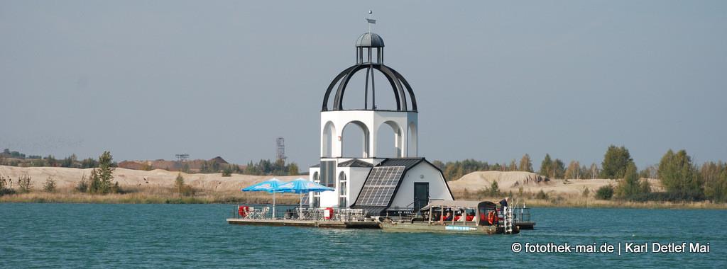 Vineta - Deutschlands höchstes schwimmendes Bauwerk auf dem Störmthaler See