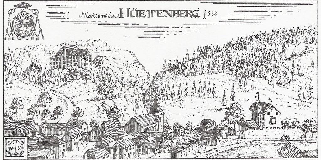 Markt und Schloss (Burg) Süßenstein - EINST
