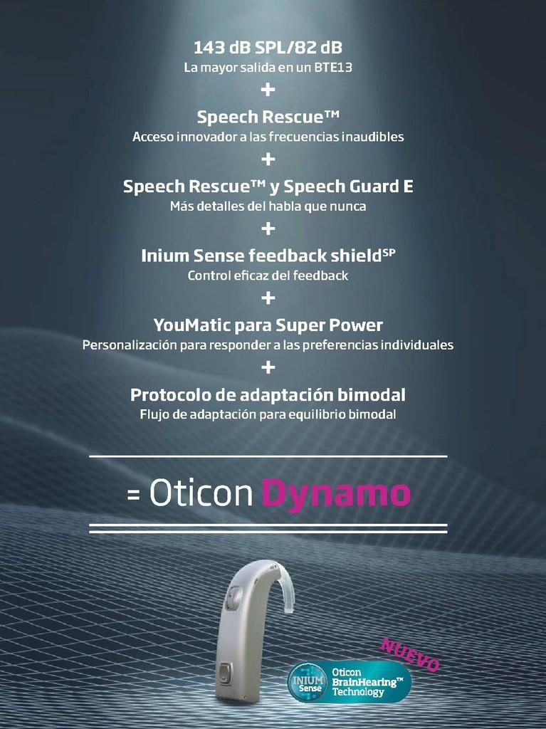 Oticon Dynamo, el audífono super power de Oticon, ahora con nueva tecnología