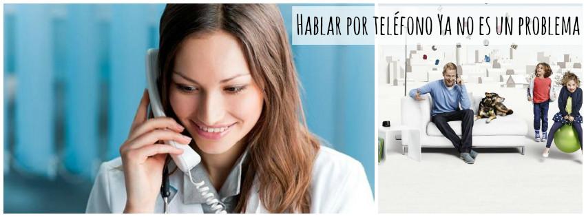Hablar por teléfono ya no es un problema con el nuevo Phonak Dect. Centro Auditivo Cuenca, en Valencia.