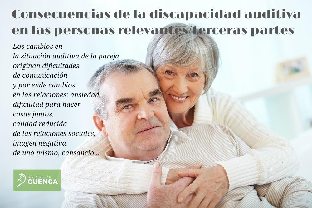 Consecuencias de la discapacidad auditiva en las personas relevantes, es decir, en la pareja del paciente.