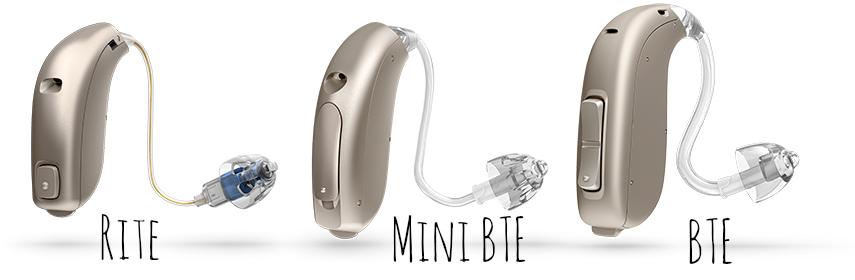 En los BTE, el auricular está dentro de la carcasa que se sitúa detrás de la oreja, y el sonido llega a través del tubo. En los RITE, sin embargo, va dentro del oído.