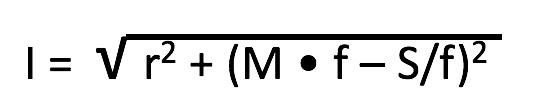 fórmula de impedancia de Campbell                      Donde f= frecuencia r= rozamiento M= masa S= rigidez