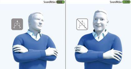 SoundRelax. Al conectarlo se atenúa un sonido de impulso, como puede ser el ruido al chocar la vajilla.