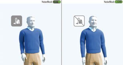 NoiseBlock. Al conectarlo se elimina el ruido de fondo producido por, por ejemplo, un aspirador.