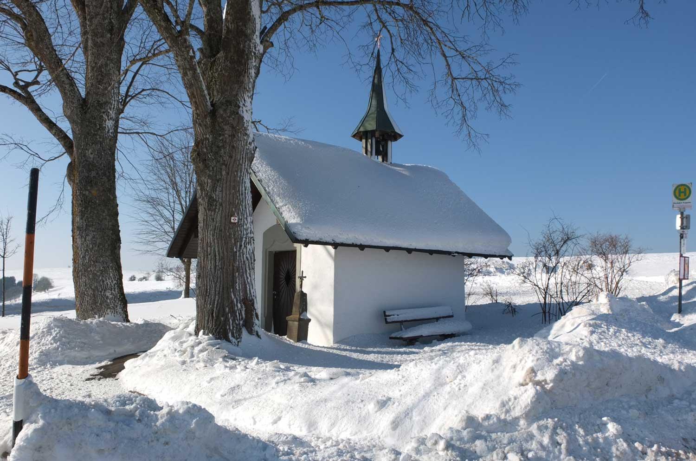 Winter in der Gemeinde Weilheim
