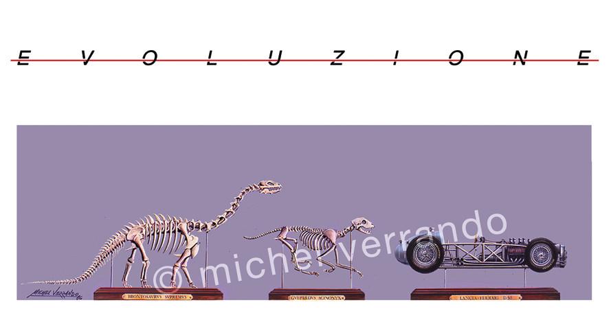 Evoluzione (1er prix Arts mécaniques - Fondation A. Maeght, Marseille 1986) Gouache 65x50cm + Reproduction 60x40cm