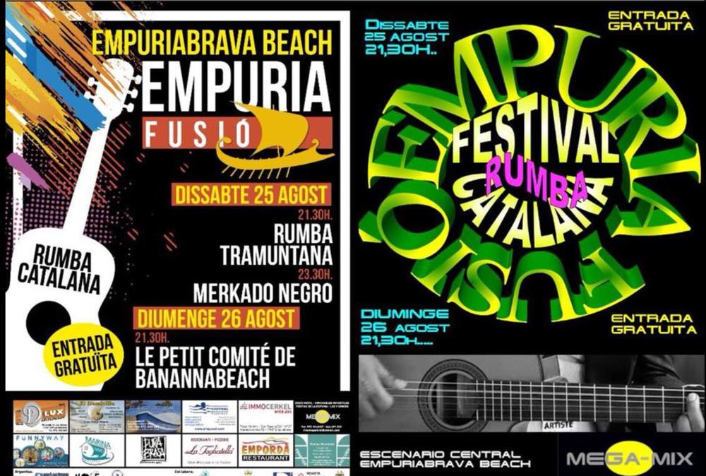 Rumba-Konzerte am 25. + 26.8.2018 ab 21:30 Uhr am Strand von Empuriabrava