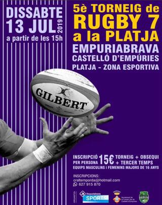 Rugby Turnier am Strand von Empuriabrava - 13.7.2019 ab 15 Uhr