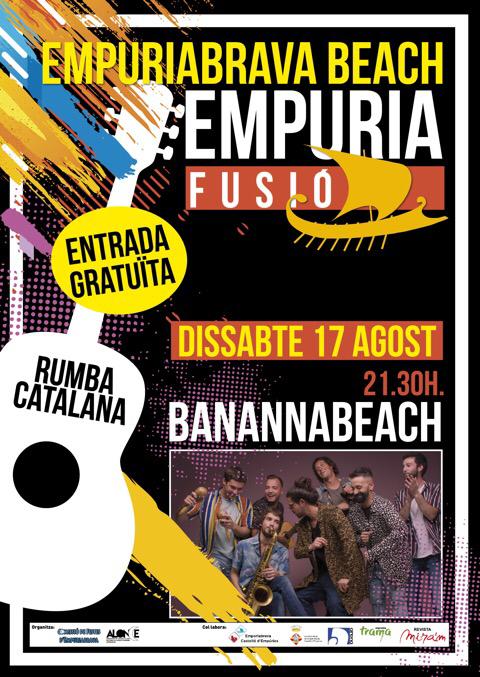 Live Musik am 17.8.2019 ab 21:30Uhr am Strand von Empuriabrava