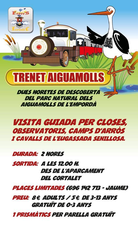 """Besichtigungsfahrt des Naturparks """"Aiguamolls"""" im Zügelchen am 7.10.2019 um 12 Uhr - Reservierung: siehe angegebene Handynummer (Jaume) oder Tourist-Center"""