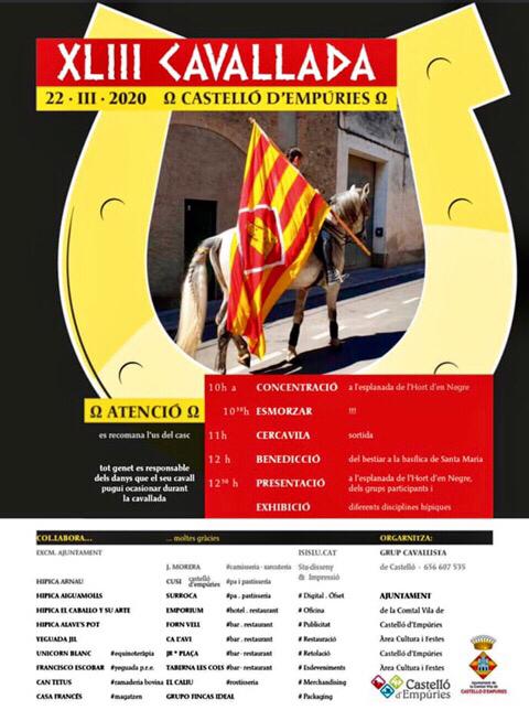22.3.2020 ab 10 Uhr Reiterfest in Castelló d'Empúries