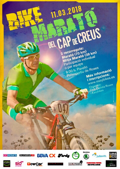 Bike Marathon Cap de Creus - Start am 11.3.2018 um 9 Uhr beim Sportpavillon in Roses