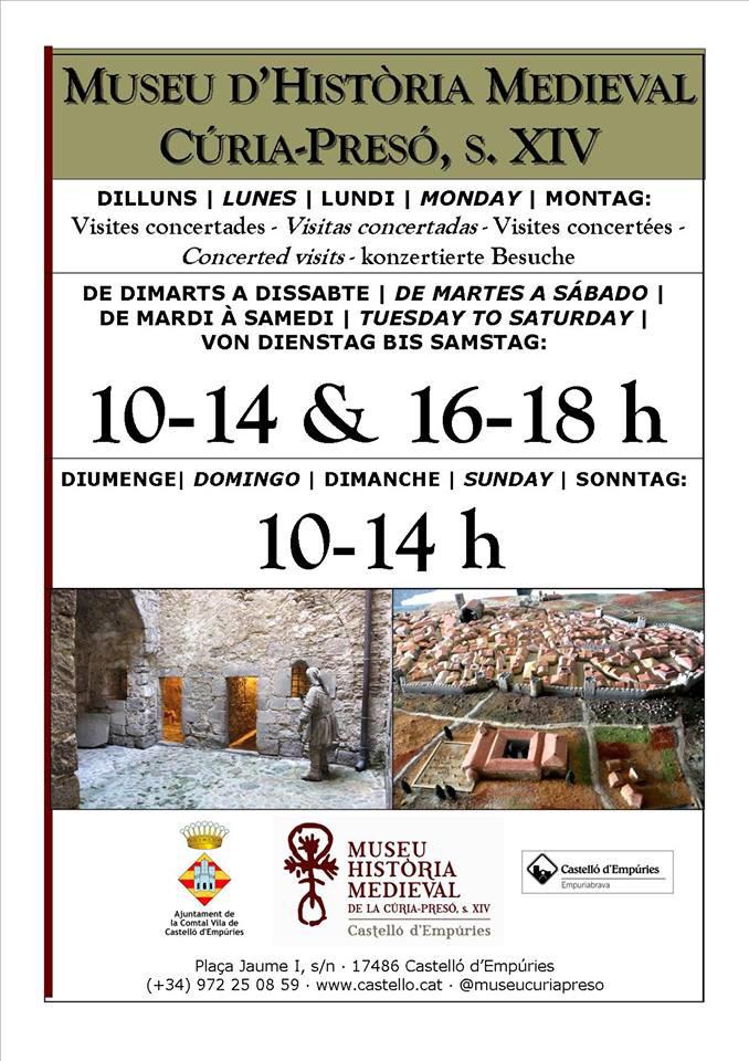 Das Mittelalter-Museum in Castello d'Empuries ist auch am Ostersonntag geöffnet