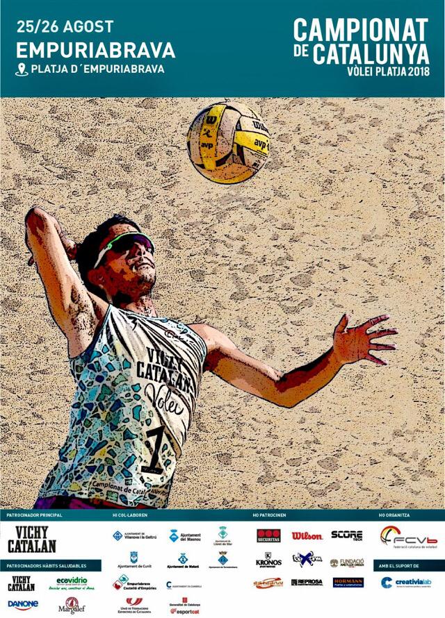Finale der katalonischen Beachvolleyball-Meisterschaft - 25. + 26.8.2018 in Empuriabrava