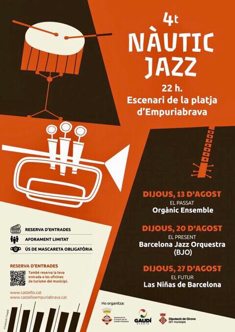 Jazz-Festival am Strand von Empuriabrava - 20. + 27.8.2020