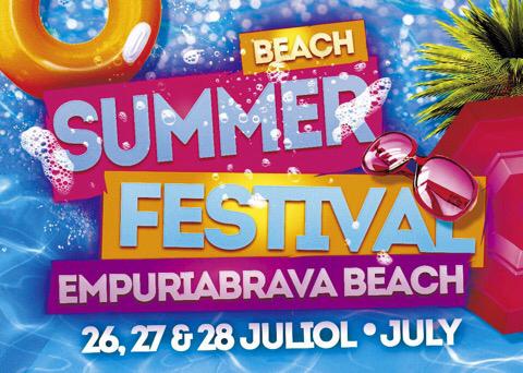 Sommerfestival am Strand von Empuriabrava vom 26. bis zum 28.7.2019