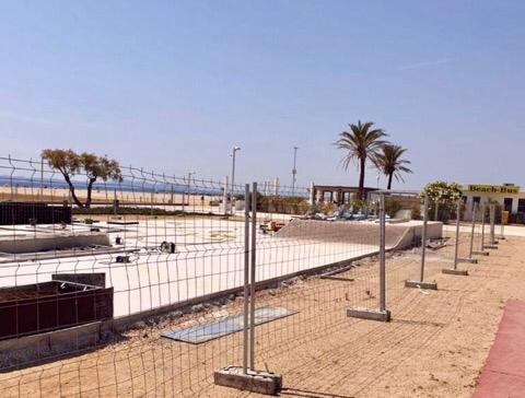 Skaterpark am Strand von Empuriabrava (Eröffnung ca. Mitte Juli 2019)