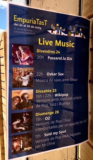 Live Musik während des Gastronomie-Festivals