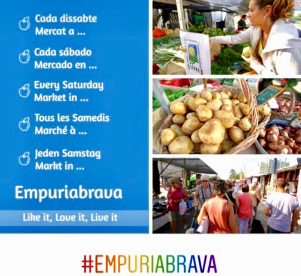 Jeden Samstag Wochenmarkt in Empuriabrava