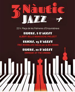 Live-Musik-Abende (Jazz, Gypsy-Swing & Blues) am 8., 15. + 22.8.2019 ab 22 Uhr beim Yachthafen/Nautic Club von Empuriabrava