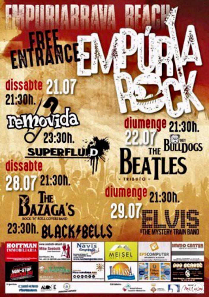 Beach Rock Empuriabrava - 21./22.7. & 28./29.7.2018 - Strand von Empuriabrava - Eintritt gratis