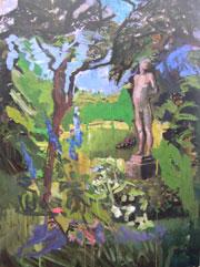 Figur im Garten des Künsteranwesens