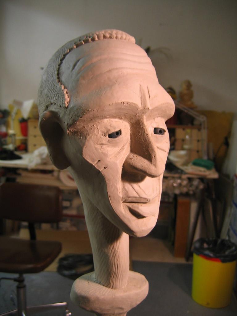 création de la marionnette du vieux - Cie Shabano