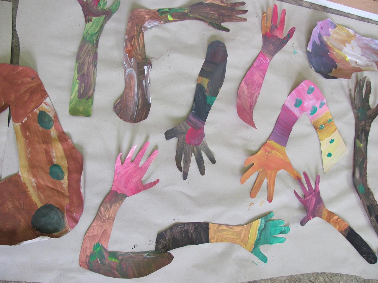 peinture des bras/branches