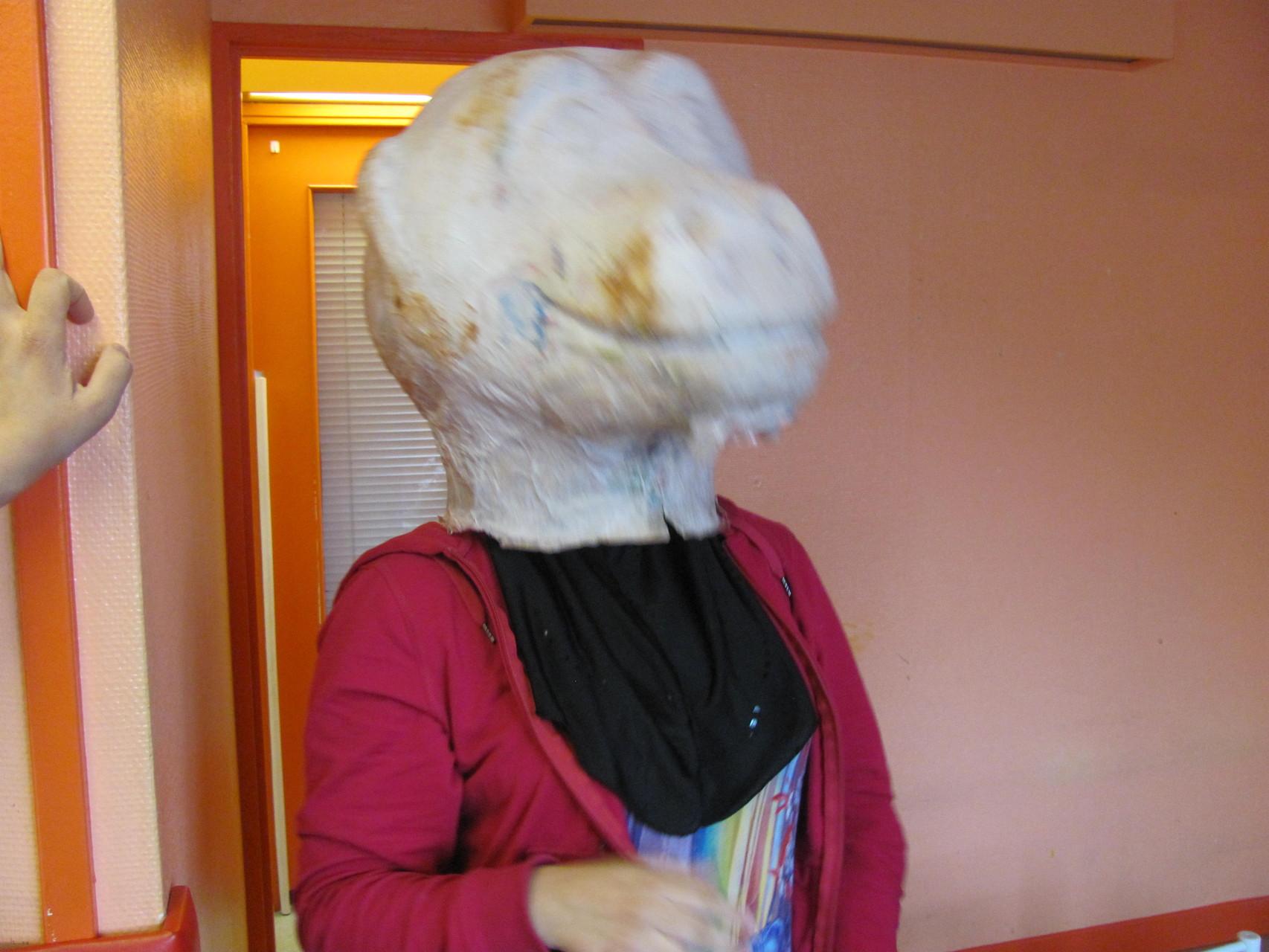 le masque à sa sortie du moule