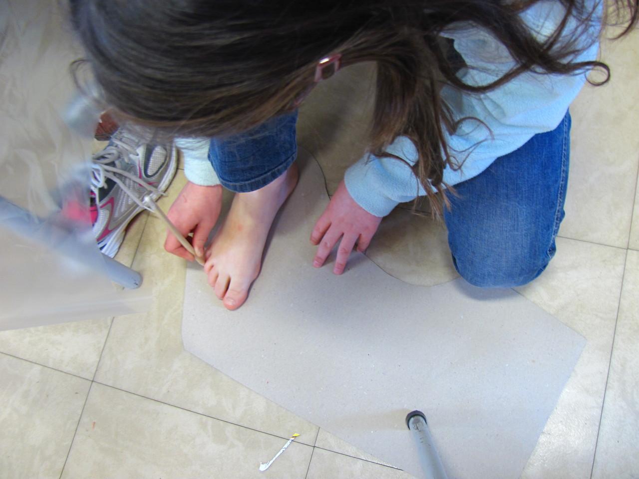 empreintes des pieds...