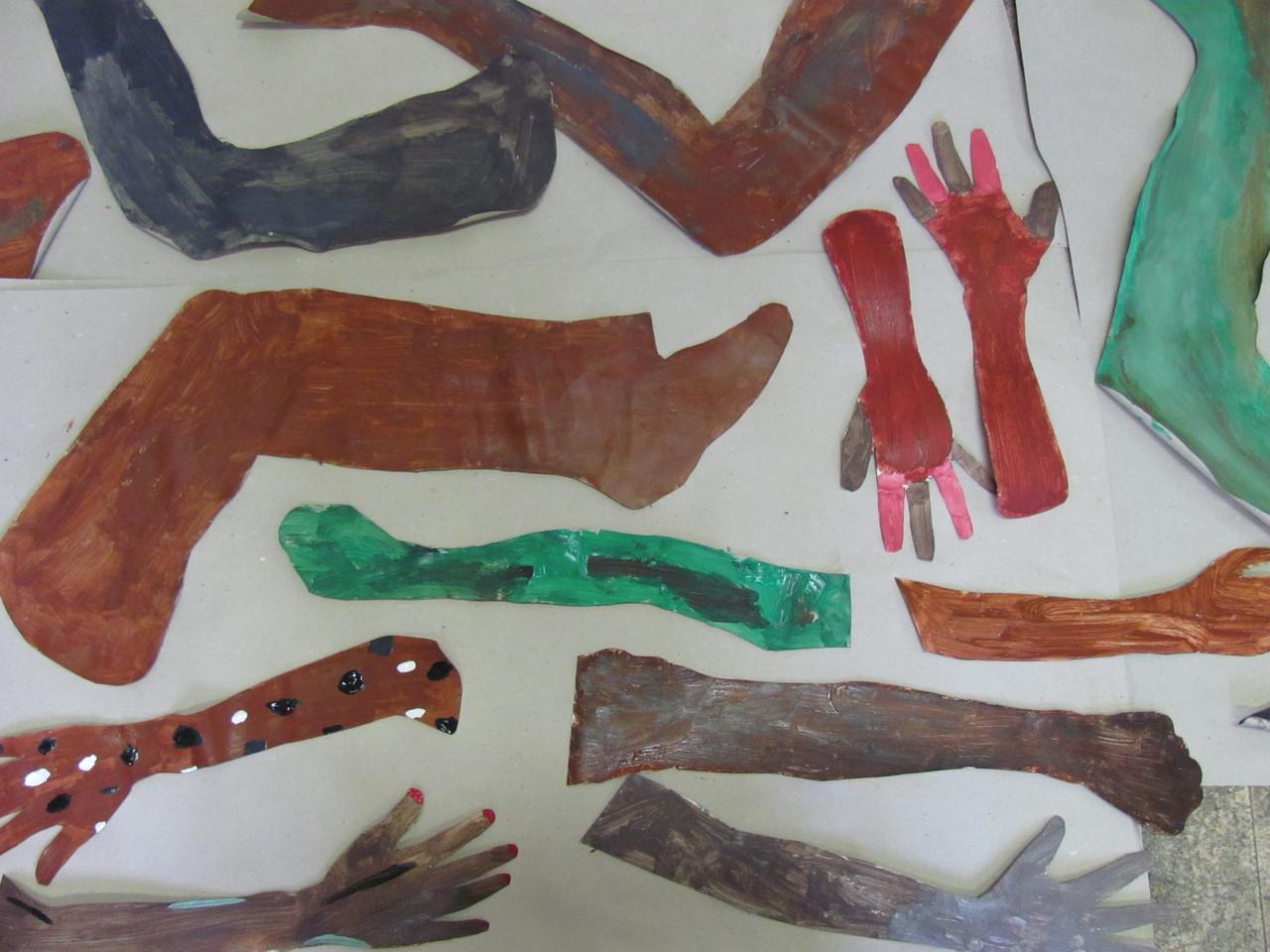 peinture des jambes/racines