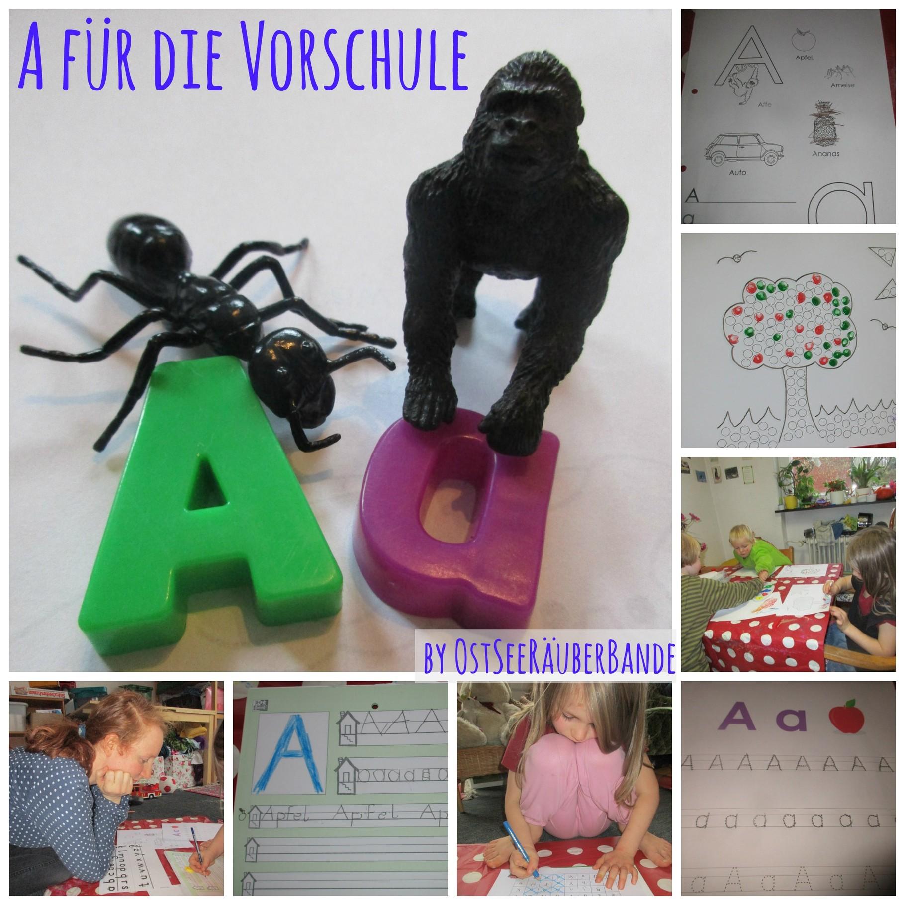 Wir machen wieder Vorschule - Ideen für den Buchstaben A ...